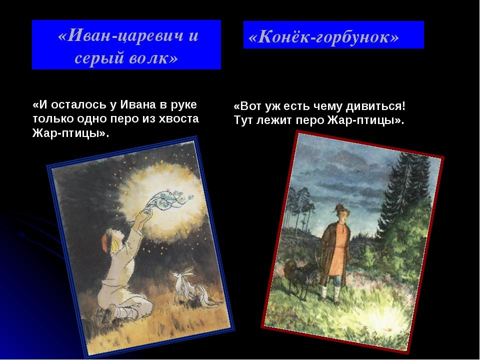 «Иван-царевич и серый волк» «И осталось у Ивана в руке только одно перо из х...