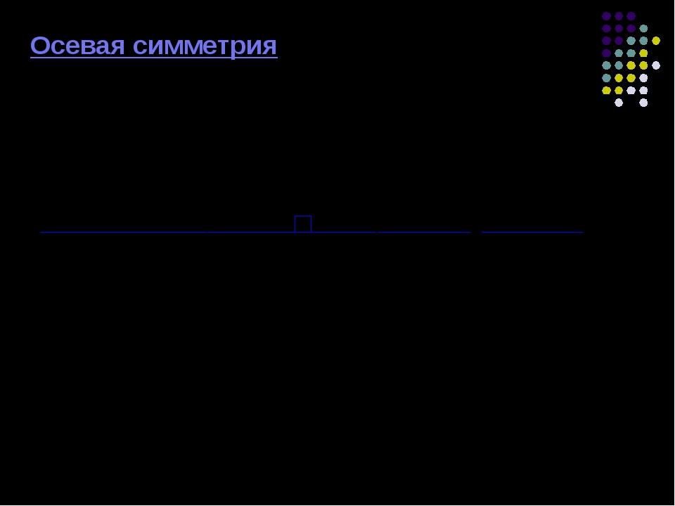 Осевая симметрия Точка K симметрична точке М относительно прямой L L M K