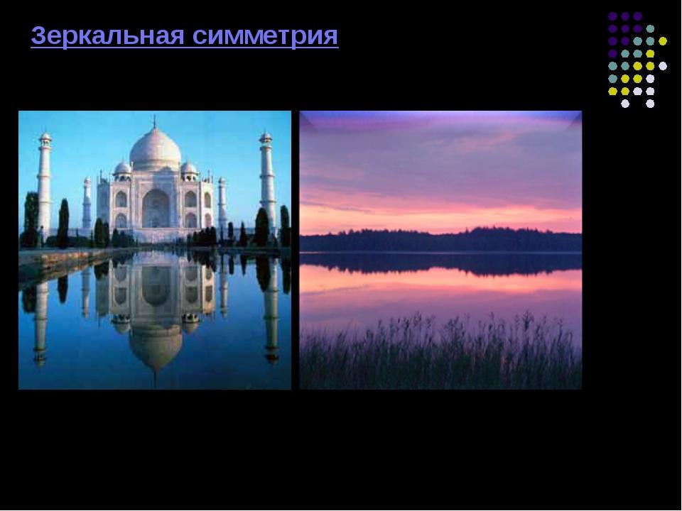 Зеркальная симметрия Аналогом осевой симметрии в пространстве является симме...