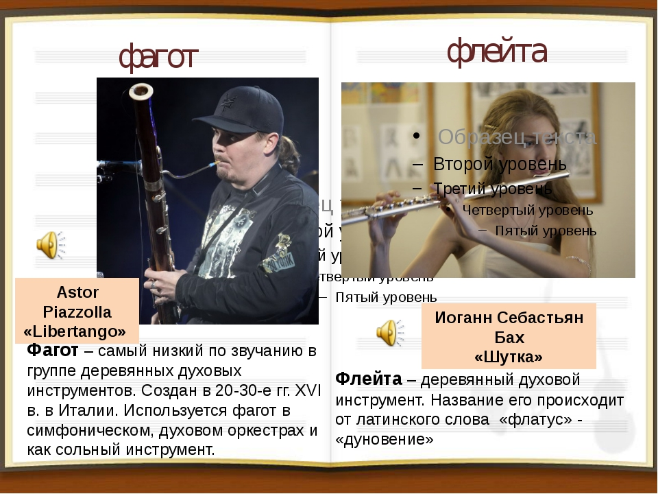 фагот флейта Иоганн Себастьян Бах «Шутка» Astor Piazzolla «Libertango» Фагот...