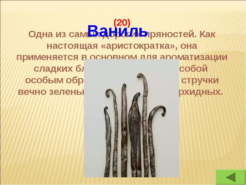 (20) Одна из самых дорогих пряностей. Как настоящая «аристократка», она приме...
