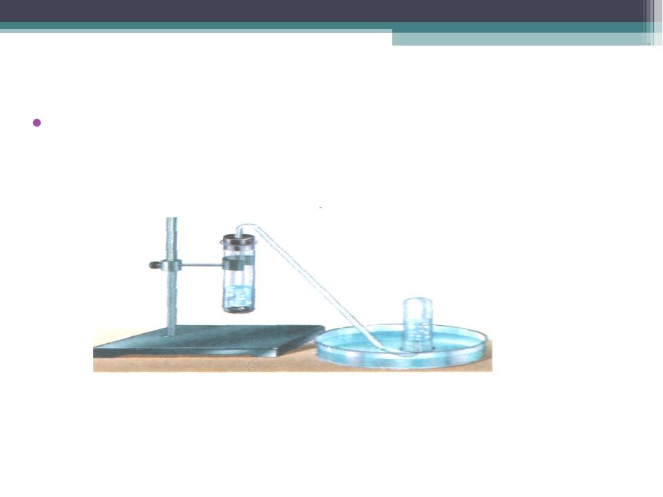 Ջրածնի հավաքումը Ջրածնի հավաքումը ջրի դուրս մղման եղանակով