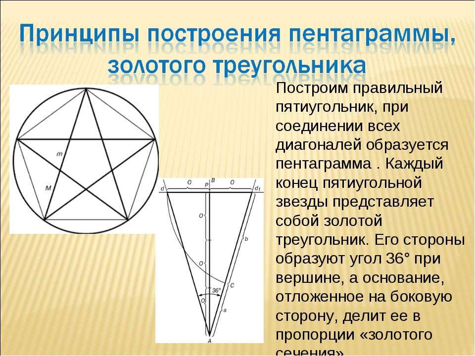 Построим правильный пятиугольник, при соединении всех диагоналей образуется п...