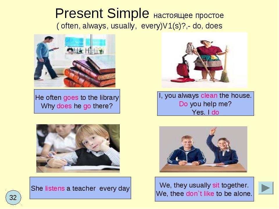 Present Simple настоящее простое ( often, always, usually, every)V1(s)?,- do,...