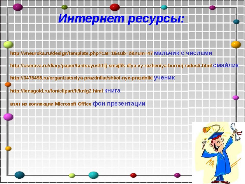 Интернет ресурсы: http://vneuroka.ru/design/template.php?cat=1&sub=2&num=47 м...