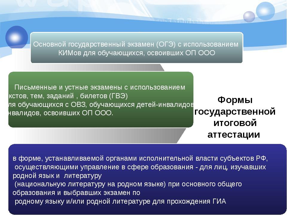 Основной государственный экзамен (ОГЭ) с использованием КИМов для обучающихс...