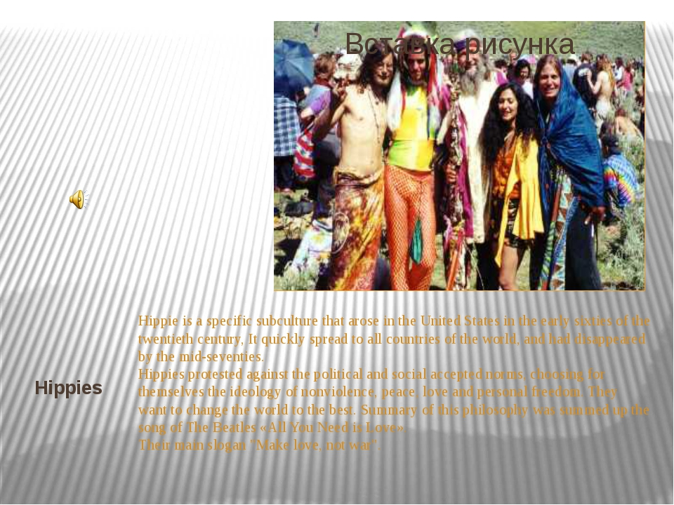 Hippie is a specific subculture that arose in the United States in the early...