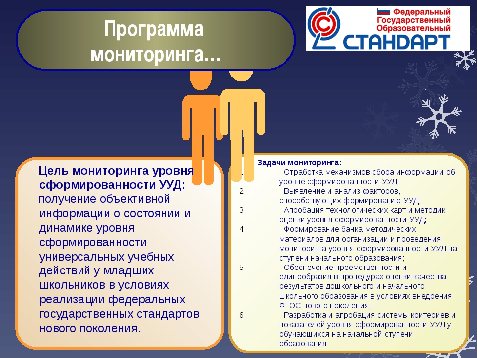 Цель мониторинга уровня сформированности УУД: получение объективной информац...