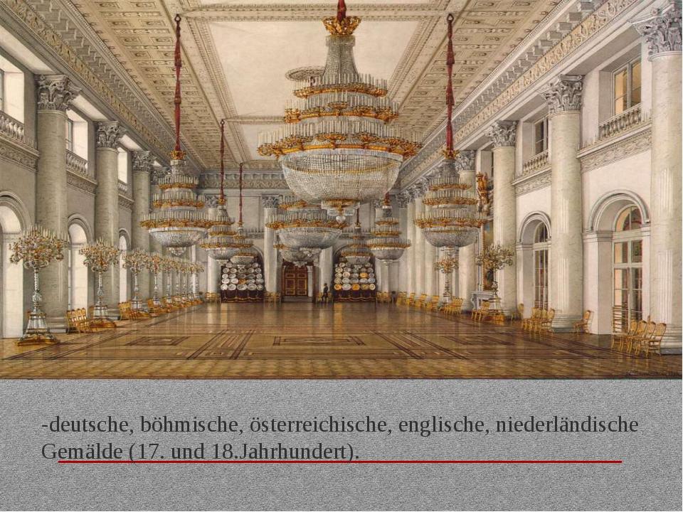 -deutsche, böhmische, österreichische, englische, niederländische Gemälde (17...