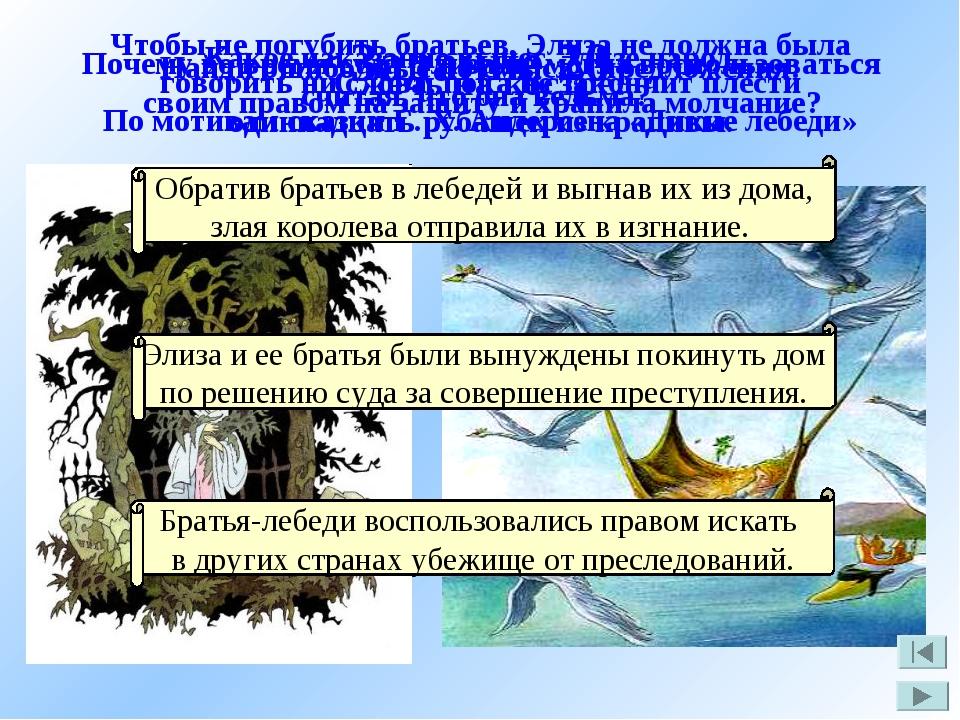 Задание 20 По мотивам сказки Г. Х. Андерсена «Дикие лебеди» Найди ошибочные п...