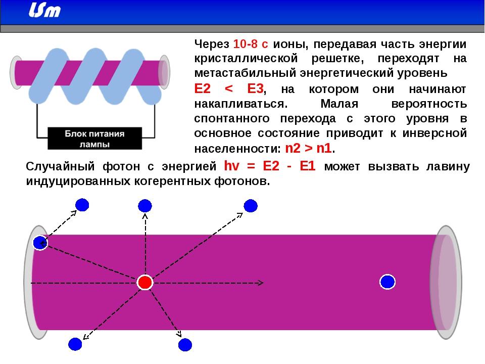 Через 10-8 с ионы, передавая часть энергии кристаллической решетке, переходя...