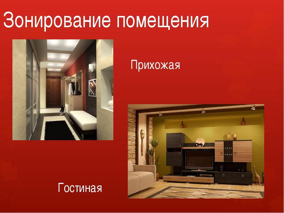 Зонирование помещения Прихожая Гостиная