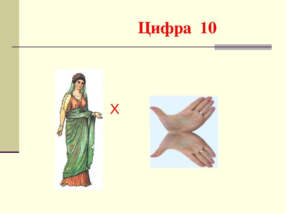 Цифра 10 X