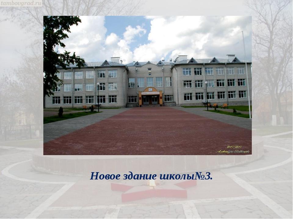 Новое здание школы№3.