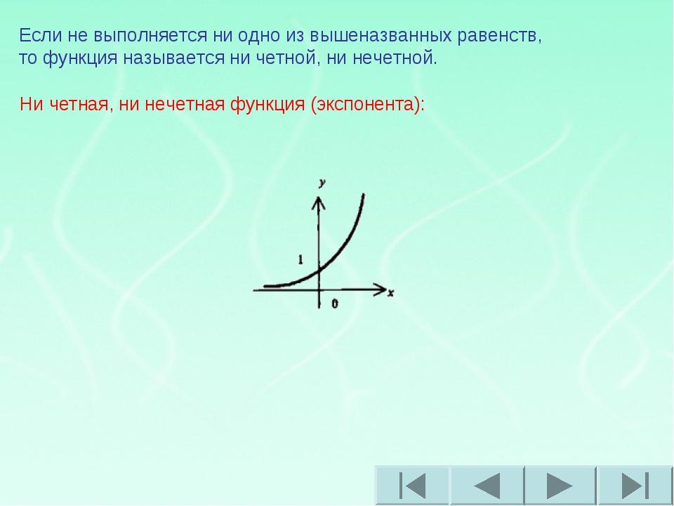 Если не выполняется ни одно из вышеназванных равенств, то функция называется...