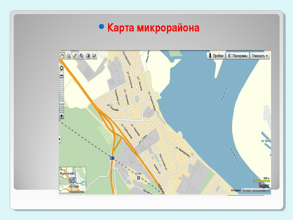 Карта старого Кстово Карта микрорайона