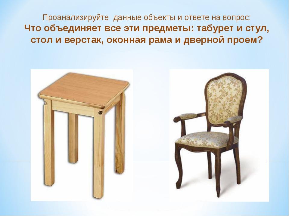 Проанализируйте данные объекты и ответе на вопрос: Что объединяет все эти пре...