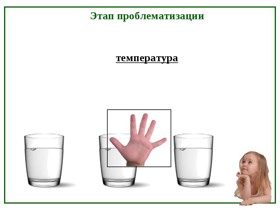 температура Этап проблематизации
