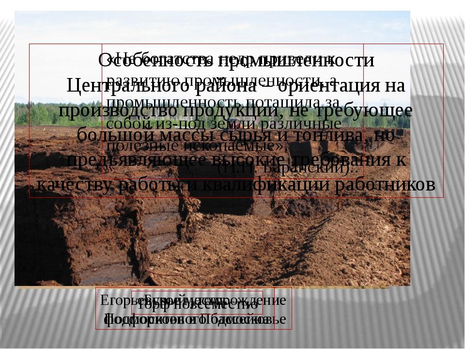 Егорьевское месторождение фосфоритов в Подмосковье Бурый уголь Подмосковного...