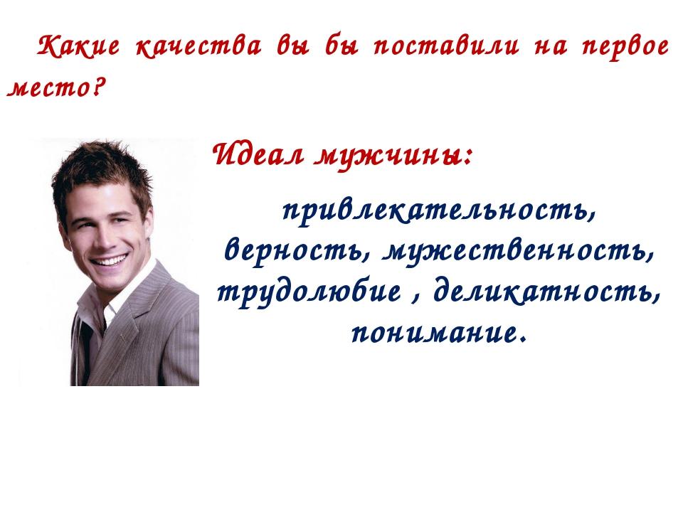 Идеал мужчины: привлекательность, верность, мужественность, трудолюбие , дели...