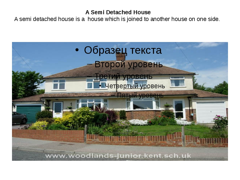 A Semi Detached House A semi detached house is a  house which is joined to an...