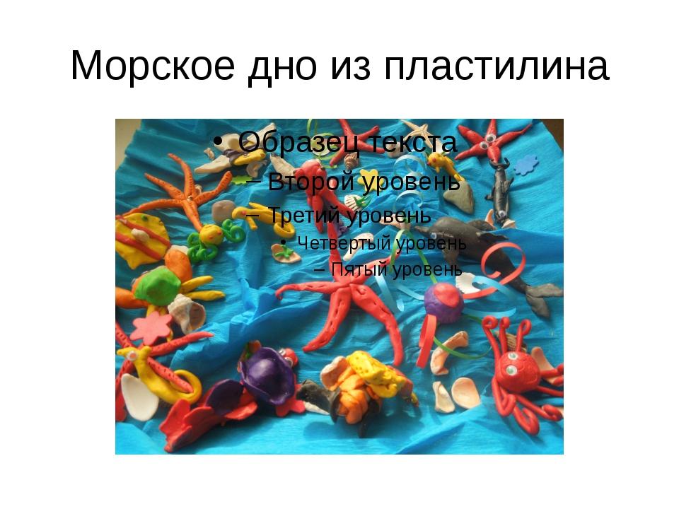Морское дно из пластилина
