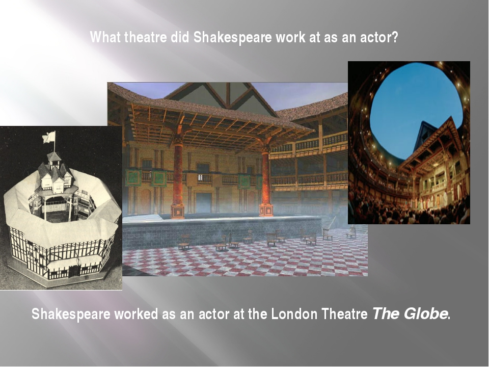 What theatre did Shakespeare work at as an actor? Shakespeare worked as an ac...