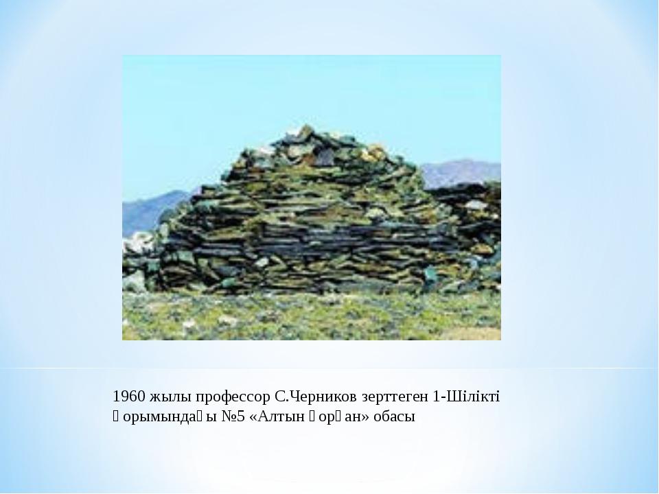 1960 жылы профессор С.Черников зерттеген 1-Шілікті қорымындағы №5 «Алтын қорғ...