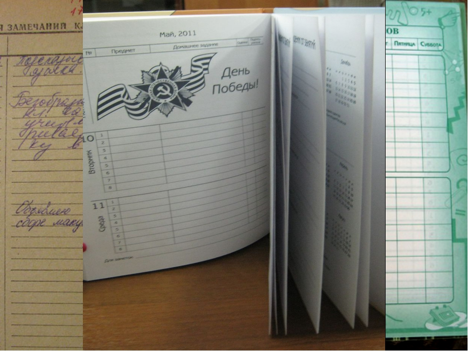 Что же мы видим в современном дневнике?