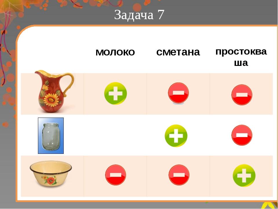 Задача 7 молоко сметана простокваша