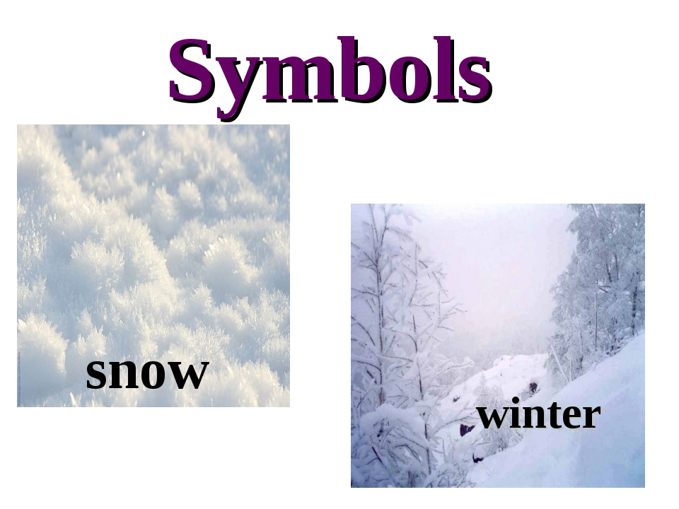 Symbols snow winter
