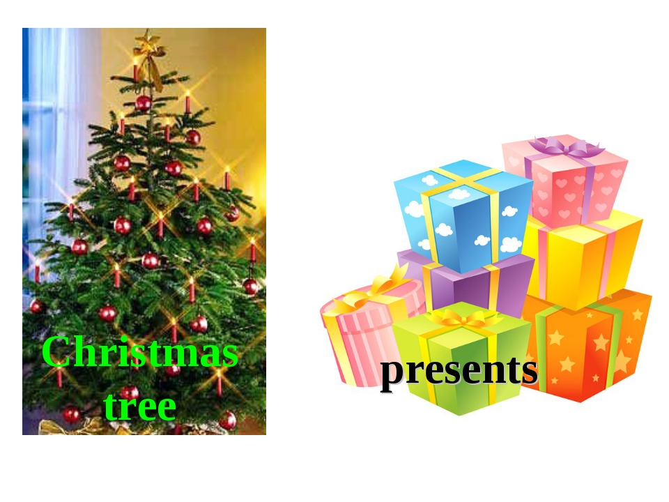 Christmas tree presents