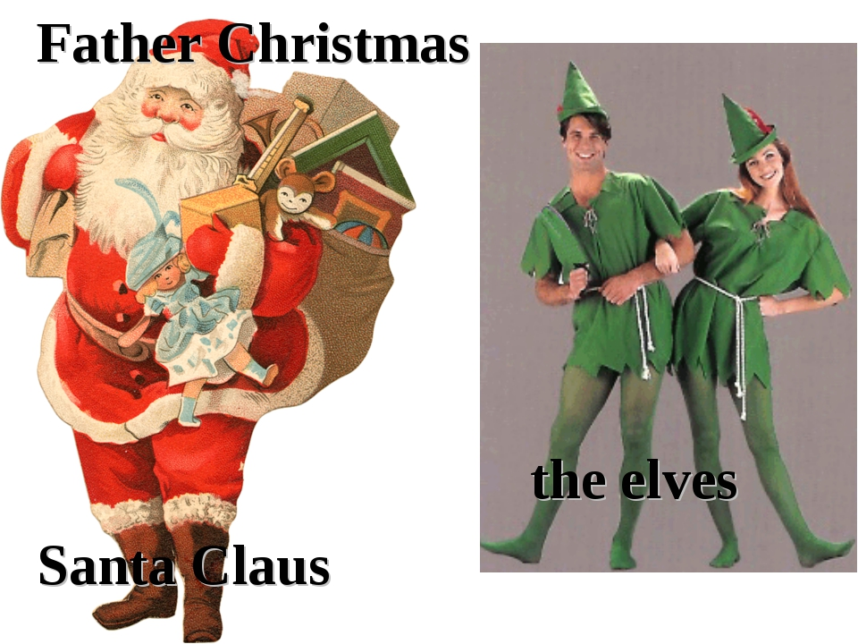 Father Christmas Santa Claus the elves