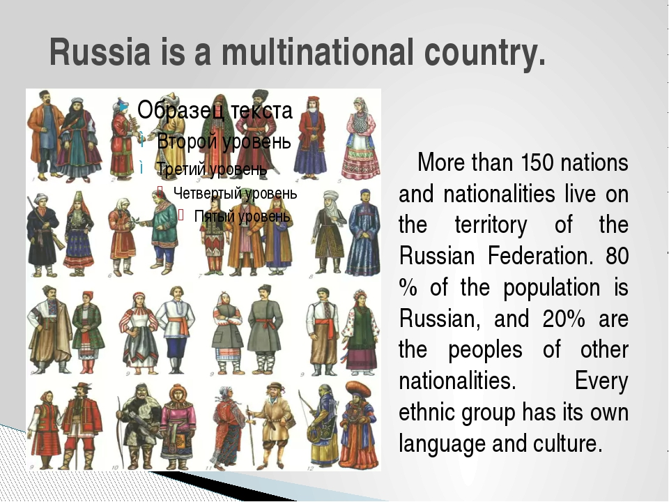 More than 150 nations and nationalities live on the territory of the Russian...