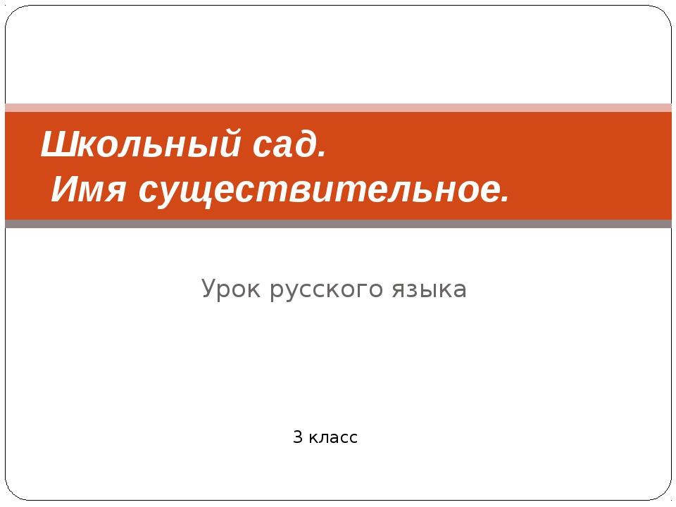 Урок русского языка Школьный сад. Имя существительное. 3 класс