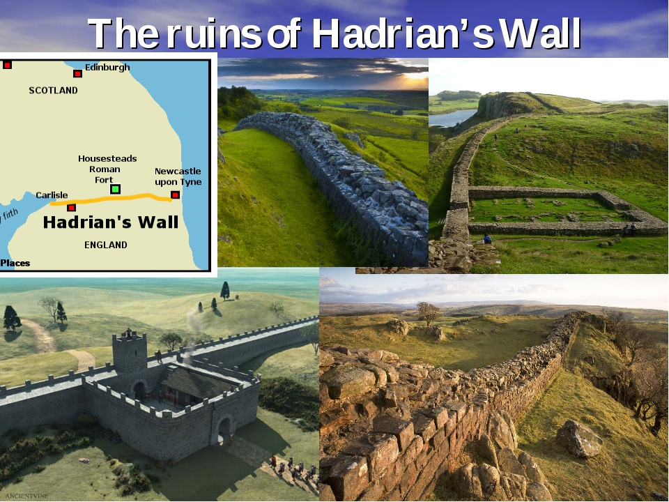 The ruins of Hadrian's Wall