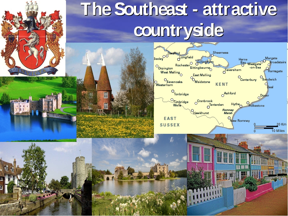 The Southeast - attractive countryside