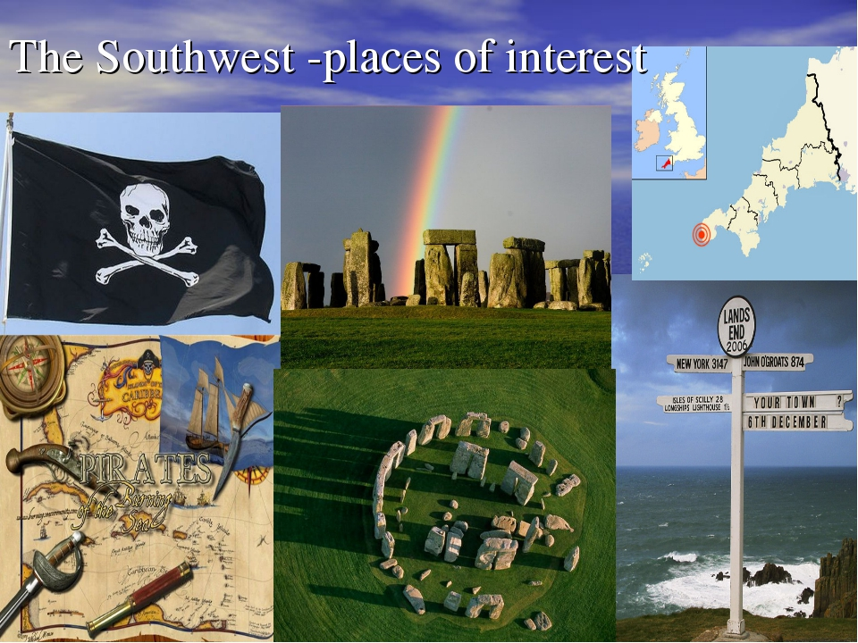 The Southwest -places of interest