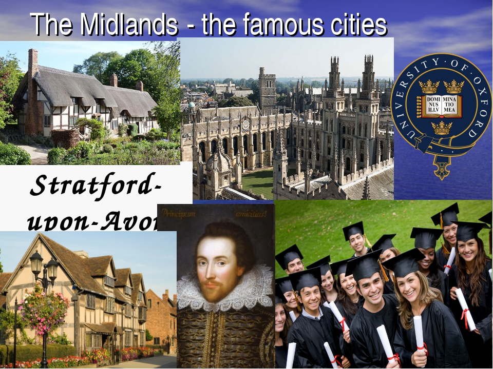 The Midlands - the famous cities Stratford-upon-Avon