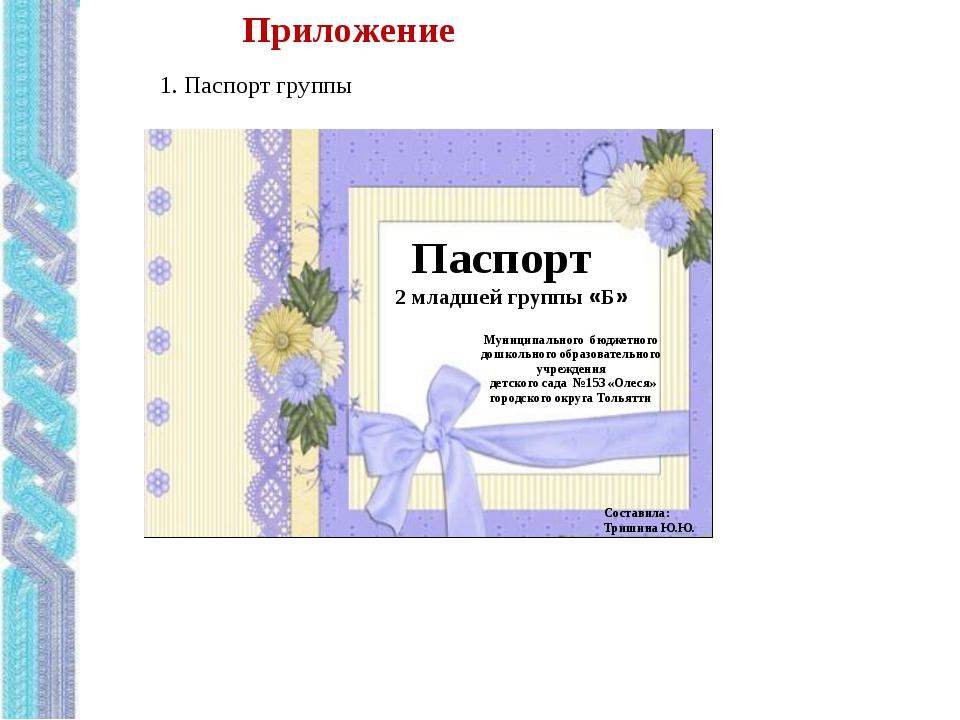 Картинки к паспорту группы