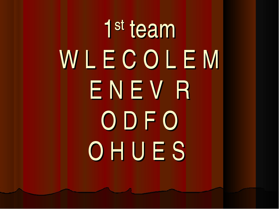 1st team W L E C O L E M E N E V R O D F O O H U E S