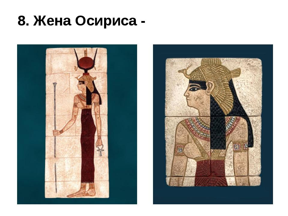 8. Жена Осириса -