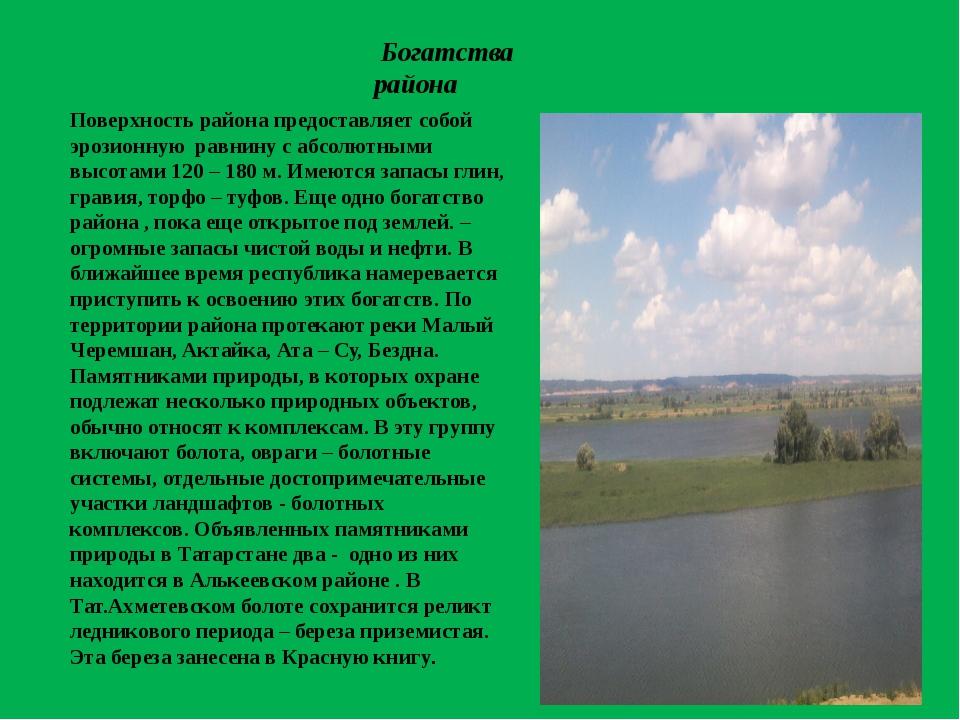 Поверхность района предоставляет собой эрозионную равнину с абсолютными высо...