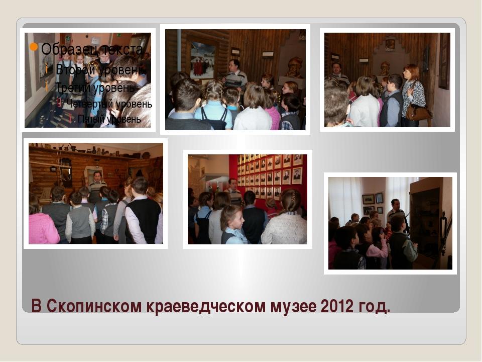 В Скопинском краеведческом музее 2012 год.