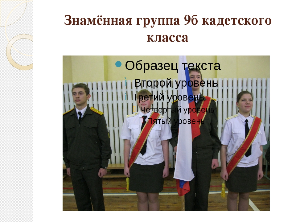 Знамённая группа 9б кадетского класса
