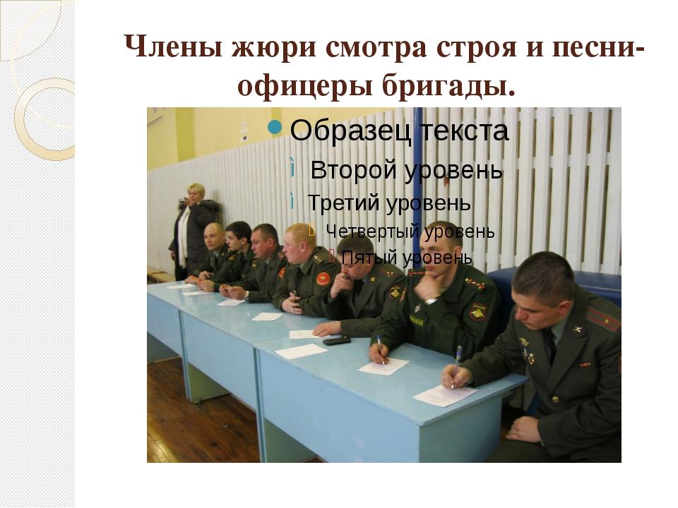 Члены жюри смотра строя и песни-офицеры бригады.