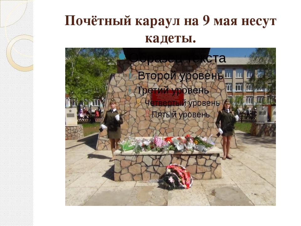 Почётный караул на 9 мая несут кадеты.
