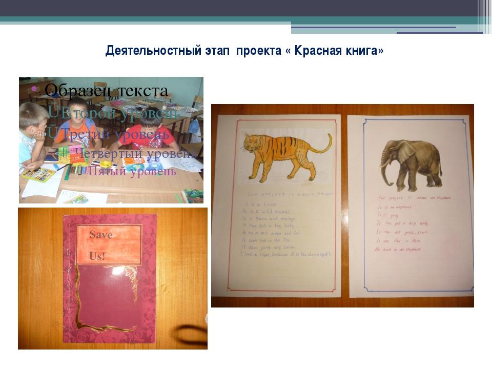 Деятельностный этап проекта « Красная книга»