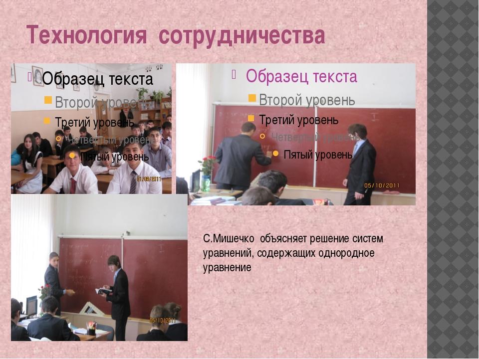 Технология сотрудничества С.Мишечко объясняет решение систем уравнений, содер...