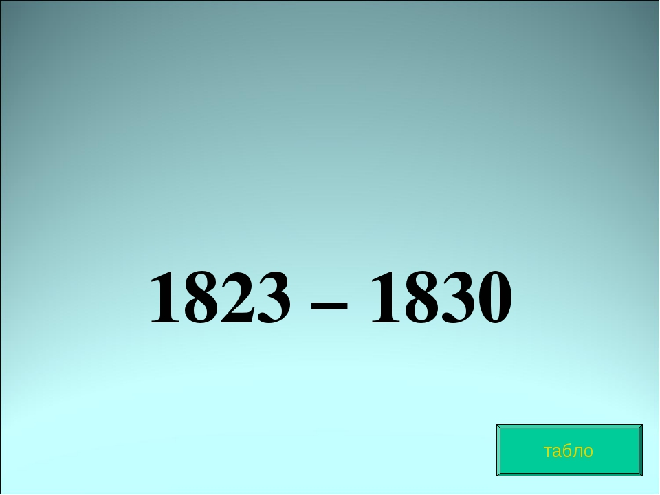 1823 – 1830 табло
